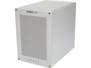 "StarTech S354SMTB2R 3.5"" SATA III Thunderbolt 2 Quad Bay Hard Drive RAID Enclosure with Thunderbolt Cable"