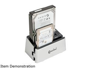 "SYBA CL-ENC50038 2.5"" & 3.5"" White SATA I / II / III USB 3.0 Dual Mode SATA III HDD Duplicator + Docking Station"