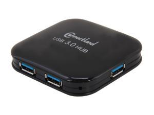 SYBA Connectland CL-HUB20126 USB 3.0 4-port Pocket Size Hub, 5Gbps Data Rate, Free AC Adapter and Cable - Black