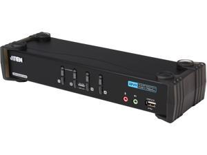 ATEN CS1784A 4 Port Dual-Link DVI KVM with USB 2.0 and 2.1 Audio Support
