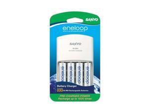 Eneloop  SEC-MQN064N  4-Position Charger With 4 AA eneloop Batteries
