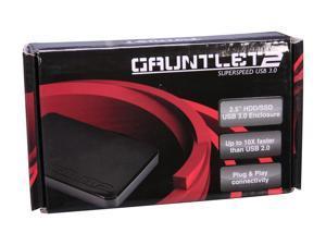 """Patriot Memory Gauntlet 2 PCGTII25S 2.5"""" Black SATA I/II USB 3.0 External Enclosure"""