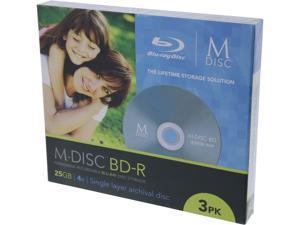 MDisc 25GB BD-R Recordable Media 3 Pack Model MDBD003