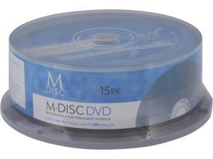 MDisc 4.7GB DVD Recordable Media - 15 Pack Model MDHA015