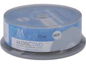 MDisc 4.7GB DVD Recordable Media - 25 Pack InkJet Printable Model MDIJ025C