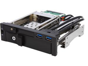 "ENERMAX EMK5201U3 Mobile Rack - 5.25"" drive bay designed for one 3.5 HDD/SSD + one 2.5"" HDD/SSD + two USB 3.0 ports"