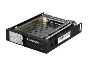 "KINGWIN KF-251-BK 2.5"" Dual Bay SATA Internal Hot Swap Rack w/ Keylock"