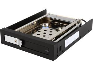 "Kingwin Single Bay Internal SATA Tray-Less Hot Swap Mobile Rack for 2.5"" SSD/HDD, with Lock (KF-250-BK), Support SATA I/II/III"