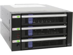 "ICY DOCK MB453IPF-B 3 Bay EZ-Tray 2.5/3.5"" SAS/SATA HDD/SSD Advance Monitoring Backplane Cage in 2x 5.25"" Bay"
