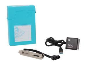 "Mukii ZIO-P015U3-BL 3.5"" HDD Protector with SATA to USB3.0 HDD adapter -Blue"