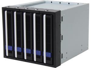 """ICY DOCK MB155SP-B FatCage MB155SP-B 5x3.5"""" in 3x5.25"""" Hot Swap SATA HDD Cage"""