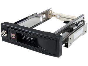 StarTech.com 5.25in Trayless Hot Swap Mobile Rack for 3.5in Hard Drive - Internal SATA Backplane Enclosure (HSB100SATBK)