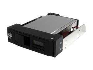 StarTech HSB110SATBK 5.25in Trayless Hot Swap Mobile Rack for 3.5in SATA HDD with LCD & Fan