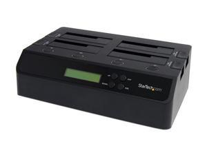 StarTech SATDOCK4U3RE 4 Bay USB 3.0 eSATA to SATA Standalone 1:3 Hard Drive Duplicator Dock