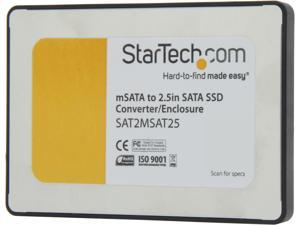 StarTech.com 2.5-Inch SATA to Mini SATA SSD Adapter Enclosure (SAT2MSAT25)