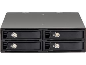 "SYBA SY-MRA25038 4 Bay 2.5"" SATA Drive Mobile Rack for 5.25"" Drive Bay"