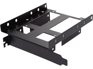 """SYBA SY-ACC25050 PCI Slot SSD / HDD Bracket, Support 2 x 2.5"""" and 1 x 3.5"""" SSD / HDD, Secure it through PCI Slots"""