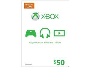 Microsoft Xbox $50.00 giftcard, physical copy