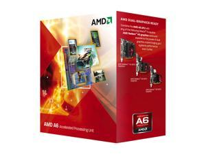 AMD A6-3500 Llano 2.1GHz (2.4GHz Max Turbo) Socket FM1 65W Triple-Core Desktop APU (CPU + GPU) with DirectX 11 Graphic AMD ...