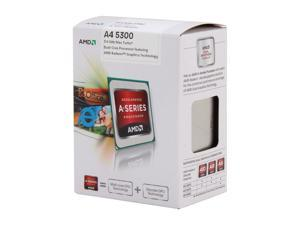 AMD A4-5300 3.4GHz (3.6GHz Turbo) Socket FM2 AD5300OKHJBOX Desktop APU (CPU + GPU) with DirectX 11 Graphic