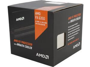 AMD FX-6350 Vishera 6-Core 3.9 GHz (4.2 GHz Turbo) Socket AM3+ 125W FD6350FRHKHBX Desktop Processor with AMD Wraith Cooler