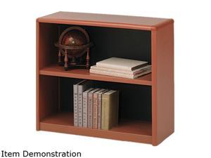 "Safco 7170CY 2-Shelf ValueMate® Economy Bookcase 31 3/4""w x 13 1/2""d x 28""h Cherry - OEM"