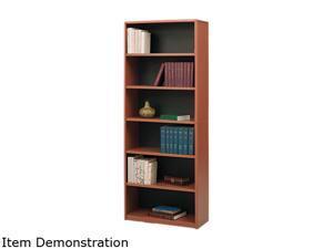 "Safco 7174CY 6-Shelf ValueMate® Economy Bookcase 31 3/4""w x 13 1/2""d x 80""h Cherry - OEM"
