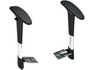 Safco Metro Extended Chairs Adjustable Arm Kit Black