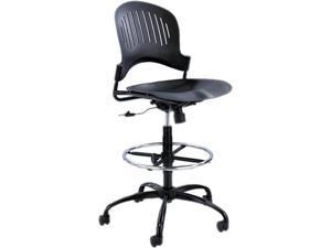 Safco Zippi Plastic Extended-Height Chair -Black