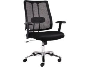 EM Series Mesh Lumbar Chair, 26-5/8w x 24-7/8d x 38-5/8 to 41-5/8h, Black