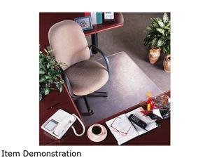 """Rollamat Vinyl Chair Mat For Med Pile Carpet, Beveled Edge, 36 X 48"""","""