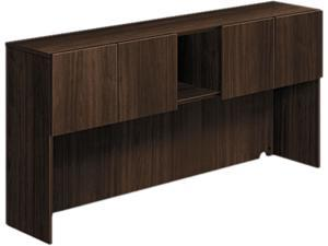 Voi Stack-On Storage Unit, 72W X 14-1/4D X 35H, Columbian Walnut
