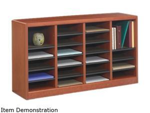 "Safco 9311CY E-Z Stor® Wood Literature Organizer, 24 Compartments 40""w x 11 3/4""d x 23""h Cherry - OEM"