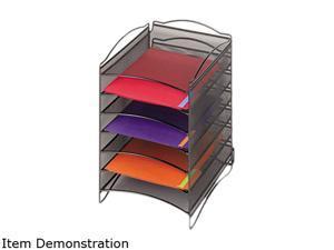 "Safco 9431BL Onyx™  6 Compartment Mesh Literature Organizer 10 1/4""w x 12 3/4""d x 15 1/4""d Black - OEM"