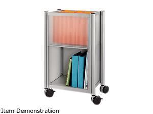 Safco 5376GR Impromptu Mobile Storage Center, 18-3/4w x 16d x 26-1/2h, Metallic Gray