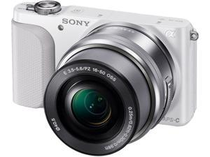 Sony Alpha NEX-3NL/W Mirrorless Digital Camera with 16-50mm Lens (White)