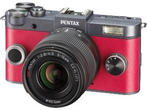 PENTAX 06154 12.4 Megapixel Q-S1 Digital Camera (02 Zoom&#59; Gunmetal)