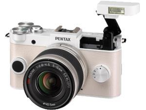 PENTAX 06189 12.4 Megapixel Q-S1 Digital Camera (02 Zoom&#59; Pure White)