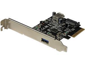 Startech PEXUSB311EI 2-Port USB 3.1 (10Gbps) Card - USB-A, 1 x External, 1 x Internal – PCIe