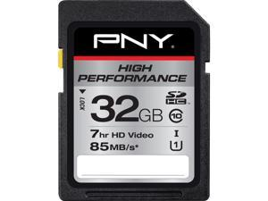 PNY 32GB High Performance SDHC UHS-I/U1 Class 10 Memory Card, Speed Up to 85MB/s (P-SDHC32GU185-GE)