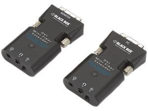 Black Box Mini Extender Kit for DVI-D and Stereo Audio over Fiber