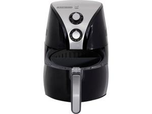 Black & Decker HF110SBD PuriFry Air Fryer, Black/White