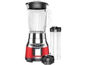 BLACK+DECKER BL1821RG-P FusionBlade Digital Blender with Portable Personal Smoothie Jar, Red/Stainless Steel Blender