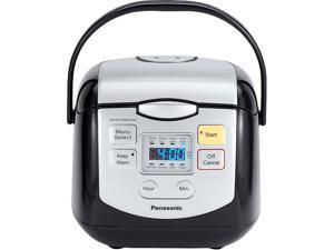 Panasonic SR-ZC075SK 4 Cups (uncooked) Microcomputer Controlled Rice Cooker, Black / Silver