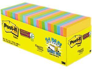 Post-it 65424SSANCP Notes Super Sticky, Pads in Marrakesh Colors, 3 x 3, 70/Pad, 24 Pads/Pack