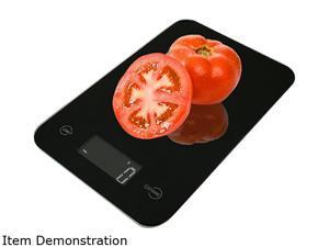 AWS ONYX-5K-BK 5Kg X 1G Amw Glass Kitchen Scale - Black