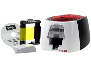 Evolis B12U0000RS Badgy100 Color ID Card Printer