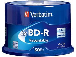Verbatim Blu-ray Recordable Media - BD-R - 6x - 25 GB - 50 Pack Spindle