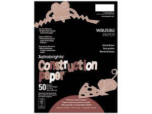 Astrobrights Construction Paper, 72-Lb., 9 X 12, Grizzly Brown, 50 She