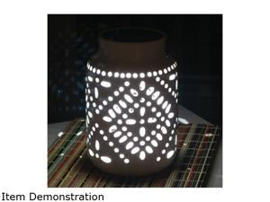Smart Solar 3903MRM1 11.0 in. H Tangiers Ceramic Solar Jar - Color Changing
